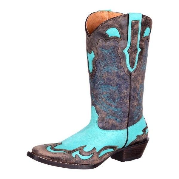 Durango Western Boots Womens Dream Catcher Wingtip Turquoise