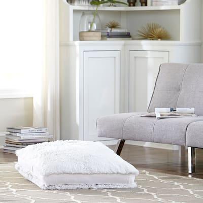 Tempo Home Polar Floor Pillow - Oversized Faux Fur Floor Cushion