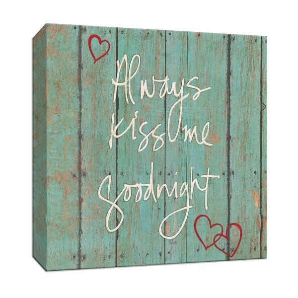 """PTM Images 9-147417 PTM Canvas Collection 12"""" x 12"""" - """"Kiss Me Goodnight"""" Giclee Sayings & Quotes Art Print on Canvas"""