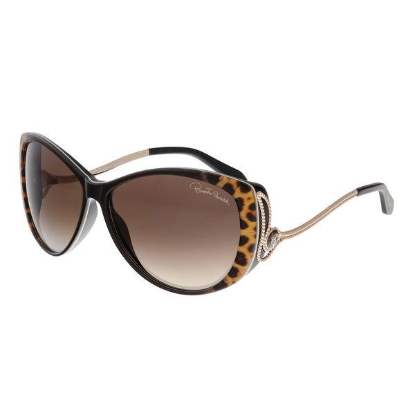 Roberto Cavalli RC741S KANDOOMA 05G Dark Havana Cateye Sunglasses - 61-13-125