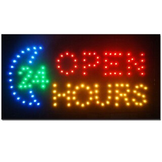 2xhome 24Hr Open Multi-Color LED Sign with Animation Effects & Motion Flashing Capabilities