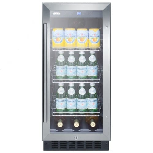 Summit scr1536bgc 15 inch built in undercounter glass door beverage summit scr1536bgc 15 inch built in undercounter glass door beverage center planetlyrics Image collections
