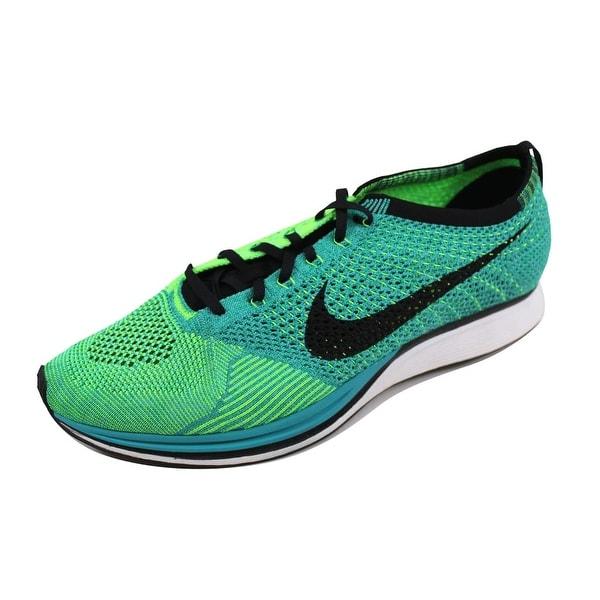 Nike Men's Flyknit Racer Sport Turquoise/Black-Lucid Green 526628-300