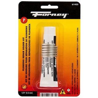 "Forney 61435 Lead Free Solder Kit, 1/8"", .75 oz."
