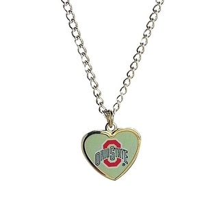 Cleanlapsports Ohio State Buckeyes Heart Shaped Pendant Necklace