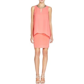 Laundry by Shelli Segal Womens Cocktail Dress Sleeveless Tunic