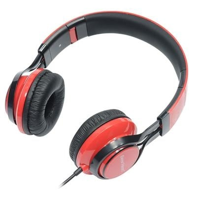 Hs3500red Noise Isolating Studio Headphones With Microphone And Digital Stereo, Red