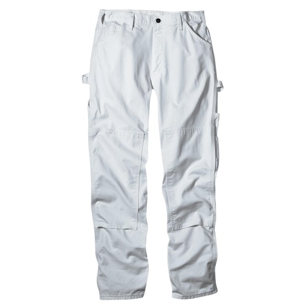 Dickies 2053WH 3232 Mens Double Knee Painter's Pant, 32x32, White