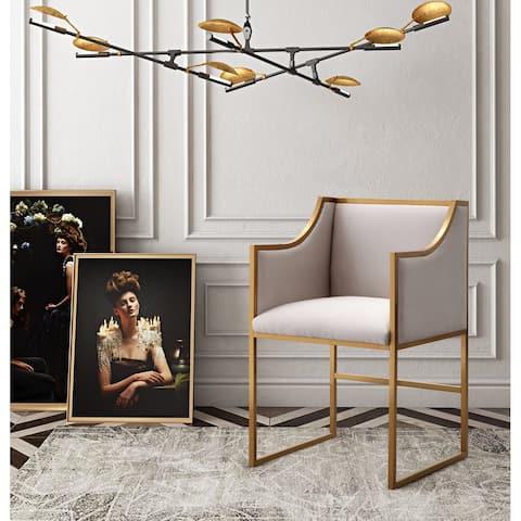 Atara Cream Velvet Gold Chair