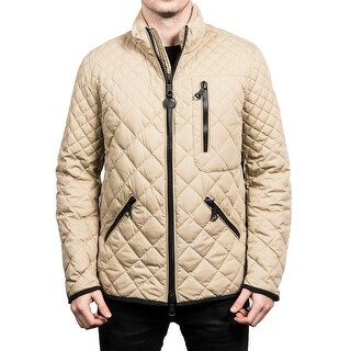 Moncler Men's Dow Tonal Quilted Down Jacket Beige - L