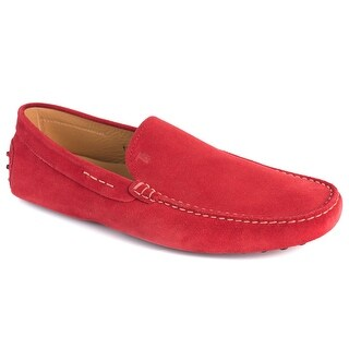 Tod's Men's Solid Red Suede Gommini Loafers