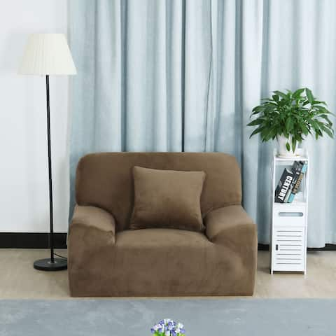 Universal Fit Flannel Stretch Chair Loveseat Couch Sofa Cover Slipcovers 1 2 3