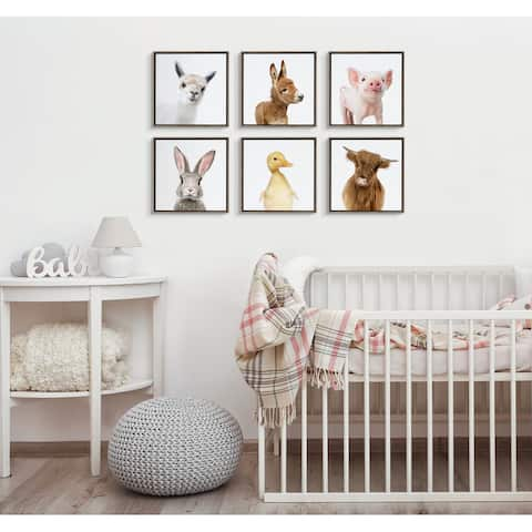 Kate and Laurel Sylvie Animal Canvas Art by Amy Peterson Art Studio