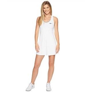 Women's Nike 'Pure' Dri-Fit Tennis Dress White Size Large - L