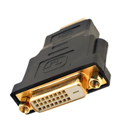 Black HDTV HDMI Male to DVI-D Dual Link Female Connector Adapter