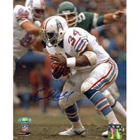 Earl Campbell signed Houston Oilers 8X10 Photo white jersey TriStar Hologram