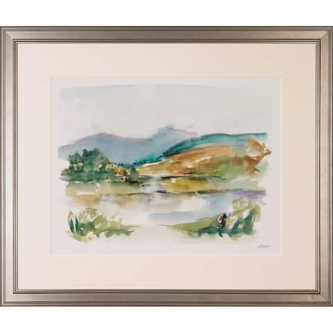 Impressionist Watercolors Framed Giclee Print - Silver