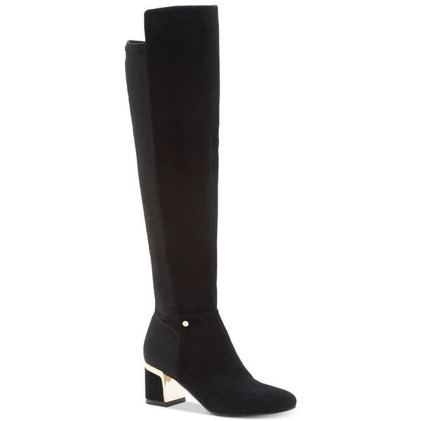 68b8c476f84 Shop DKNY Womens cora Leather Closed Toe Knee High Fashion Boots ...