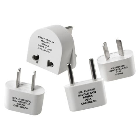 Travel Smart M500ENR Adapter Plug Set, 4 Pieces