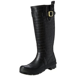 Joules Womens Crockington Rubber Knee-High Rain Boots