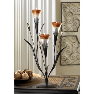 Dawn Lily Triple Candleholder