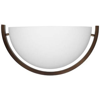 "Forecast Lighting F53570U 1 Light 14.5"" Wide Wall Sconce from the Fleetwood Collection - merlot bronze"