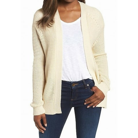 Caslon Beige Womens Size XXL Open Front Knitted Cardigan Sweater