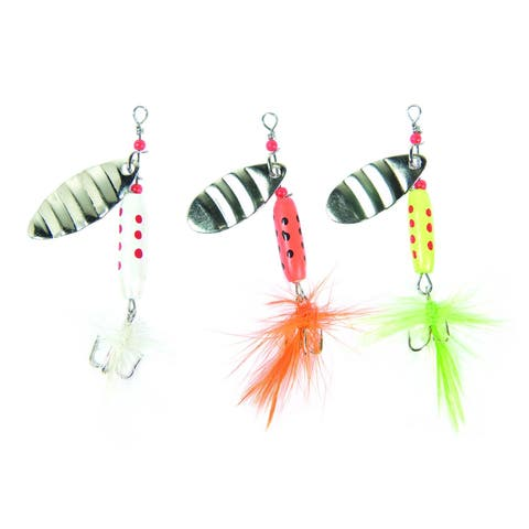 Eagle Claw 0848-3932 Multiple Color Hair Spinners, 3 Piece