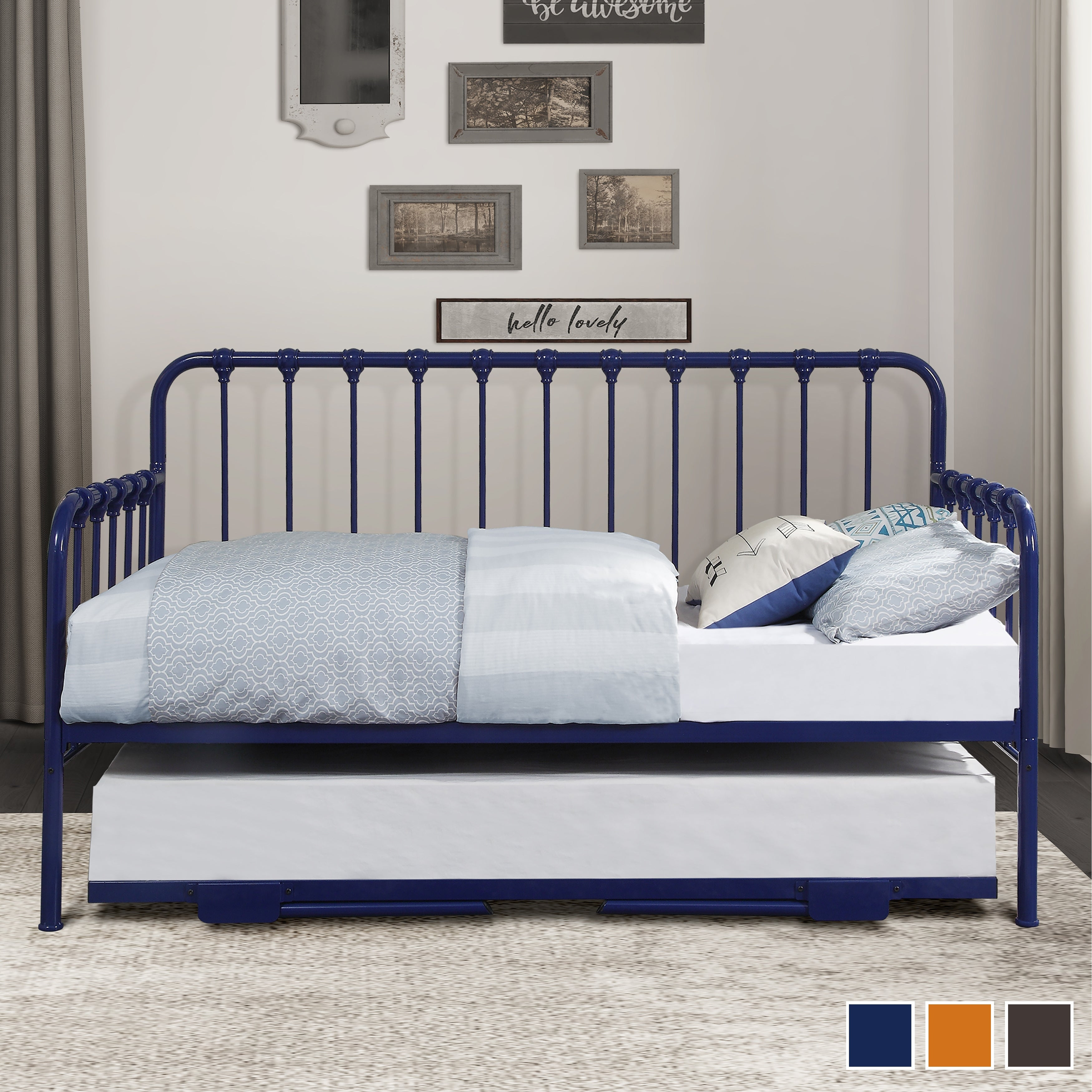 Shop Eury Metal Daybed with Lift-Up Trundle - Overstock - 32029241