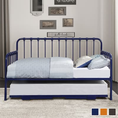 Eury Metal Daybed with Lift-Up Trundle