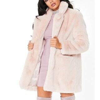 Winter Faux Fur Coat  Long Sleeve Lapel Warm Outwear Cardigan Overcoat Jacket