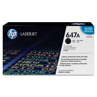 Hewlett Packard CE260A HP 647A (CE260A) Black Original LaserJet Toner Cartridge