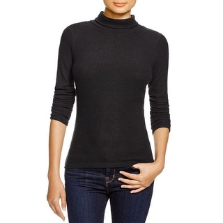 Aqua Womens Pullover Sweater Ribbed Knit Turtleneck