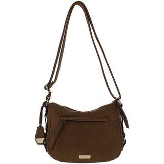 Jessica Simpson Womens Roxanne Shoulder Handbag Faux Leather Logo - Medium (2 options available)