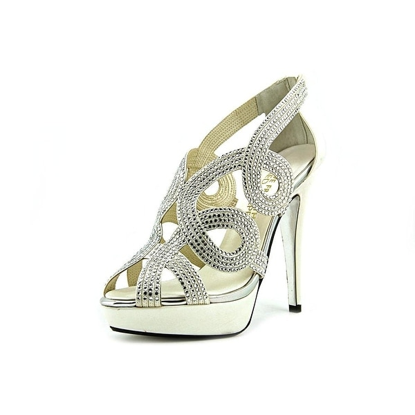 E! Live From The Red Carpet Womens Monique Leather Open Toe Classic Pumps