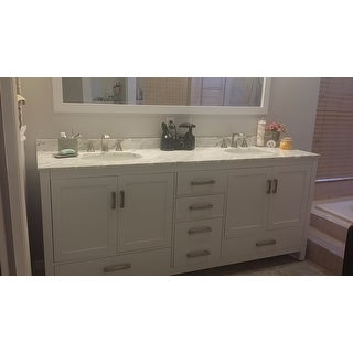 Wyndham Collection Sheffield White 80-inch Double Vanity