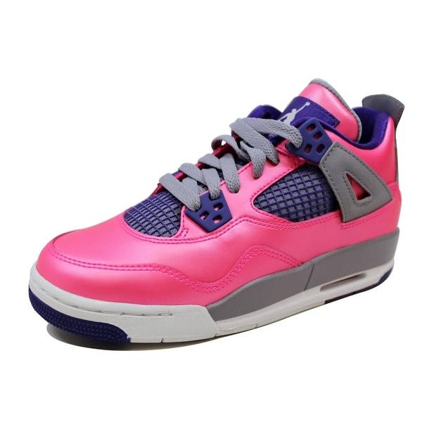 f6dea97a1e7699 Shop Nike Grade-School Air Jordan IV 4 Retro Pink Foil White-Cement ...
