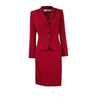 Tahari Women's Crepe Professional Skirt Suit