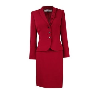 Tahari Women's Petite Crepe Professional Skirt Suit