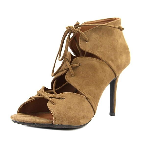 Madeline Breakaway Women Peep-Toe Canvas Heels
