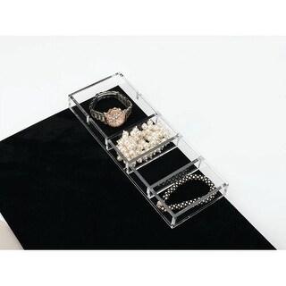Rev-A-Shelf CA-SMORG-1 CA Series 11.625 Inch x 4.25 Inch Clear Acrylic Jewelry Organizer