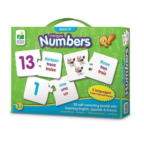 The Learning Journey Trilingual Match It - Numbers - multi