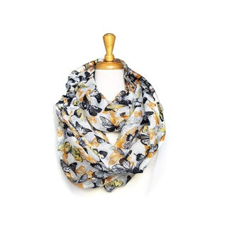 Infinity Scarf Butterfly Print Bouble Loop Scarves Light Weight Soft - circumference 68 inches x 24 inches