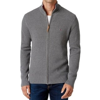 Tommy Hilfiger NEW Gray Mens Size 3XL Mock Neck Full Zip Sweater