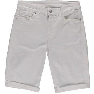 7 For All Mankind Womens Cuffed Denim Bermuda Shorts - 27