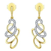Prism Jewel 0.16Ct G-H/I1 Round Brilliant Cut Natural Diamond Push Back Earring - White G-H