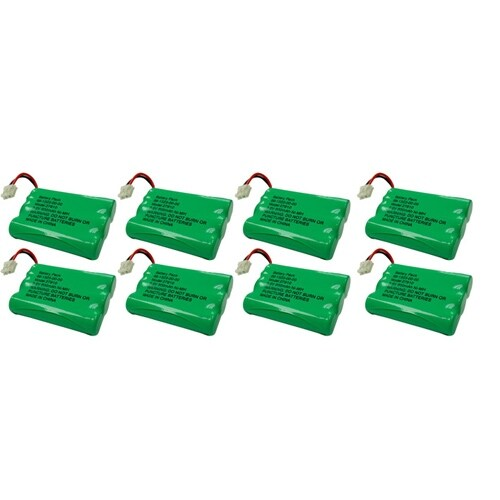 Replacement VTech DS3101 / i6765 NiMH Cordless Phone Battery - 600mAh / 3.6V (8 Pack)