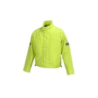 Motorcycle Biker Road Rain Jacket Neon Green RJ1-1
