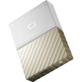Wd Wdbfkt0040bgd-Wesn 4Tb Usb 3.0 My Passport Ultra Portable External Hard Drive White-Gold