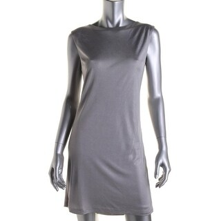 Grace Womens Metallic Sleeveless Clubwear Dress - 8